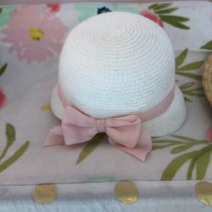 NWT Janie and Jack girls Easter hat